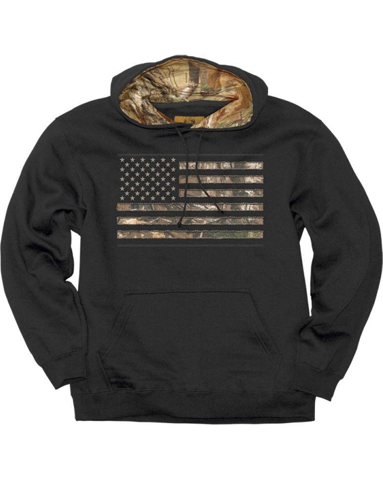 Buck Wear Real Tree Camo Stars and Stripes Sweatshirt
